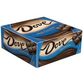 Dove Milk Chocolate Singles Size Candy Bar (1.44 oz., 18 ct.)