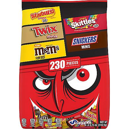 Mars Variety Candy, Minis & Fun Size Halloween Bulk Variety Pack (230 ct.)