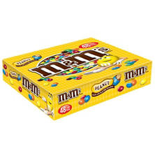 M&M'S Peanut Chocolate Candy Singles Size Pouches (1.74 oz., 48 ct.)