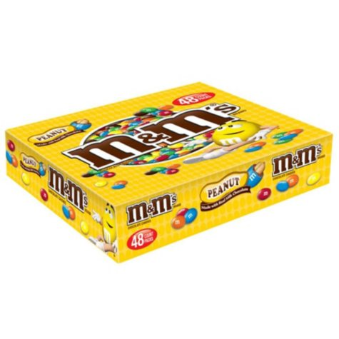M&M's Peanut Chocolate Candy (1.74 oz., 48 ct.)