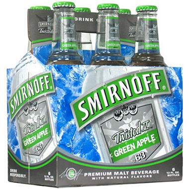 Smirnoff Twisted V Green Apple Premium Malt (11.2 fl. oz. bottles, 24 pk.)