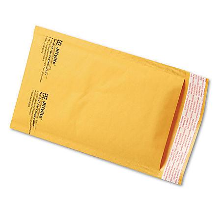 Sealed Air - Jiffylite Self-Seal Mailer, Side Seam, #00, 5 x 10, Golden Brown -  250/Carton