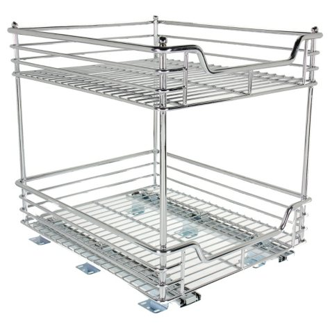 "Household Essentials Glidez 14.5"" 2-Tier Under Cabinet Sliding Organizer"