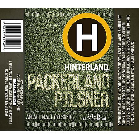 Hinterland Packerland Pilsner (12 fl. oz. can, 12 pk.)