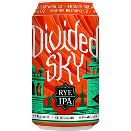 4 Hands Divided Sky Rye IPA (12 fl. oz. can, 12 pk.)