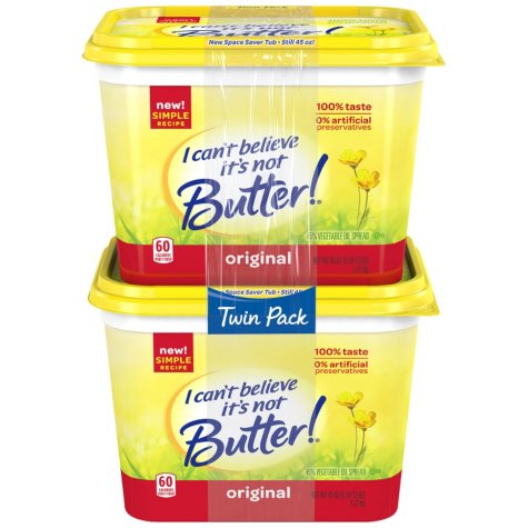 I Can't Believe It's Not Butter Original Vegetable Oil Spread (45 oz., 2 pk.)