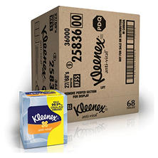 Kleenex Anti-Viral 3-Ply Facial Tissue (68 sheets/box, 27 boxes/carton)