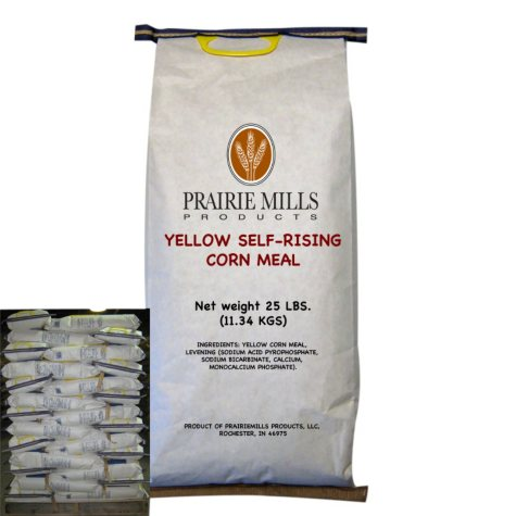 Prairie Mills Yellow Self-Rising Corn Meal (25 lbs., 80 ct.)