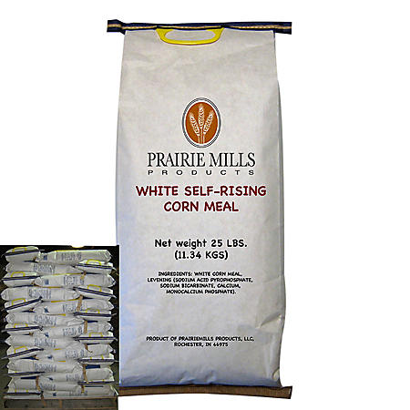 OFFLINE-Prairie Mills White Self-Rising Corn Meal (25 lbs., 80 ct.)