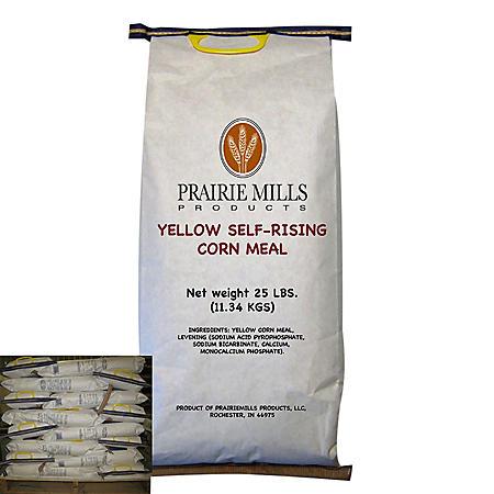 Prairie Mills Yellow Self-Rising Corn Meal (25 lbs., 40 ct.)