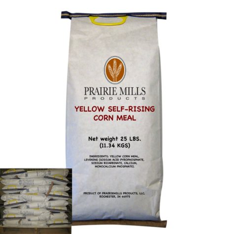 Prairie Mills Yellow Self-Rising Corn Meal (25 lbs., 40 ct.)