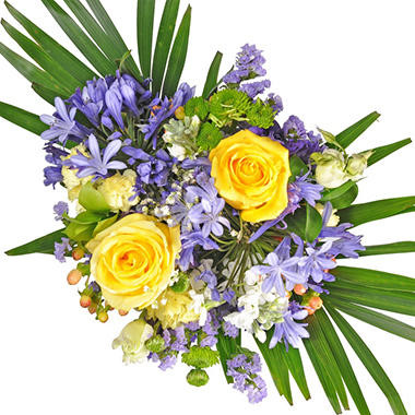 Golden Periwinkle Mixed Bouquet - 10 pk.