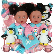 Brass Key Celebrating Twins Vinyl Dolls - Polar Cuties (African American)