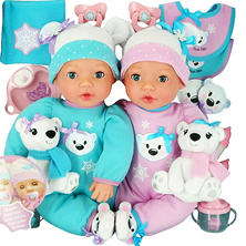 Brass Key Celebrating Twins Vinyl Dolls - Snow Cubs
