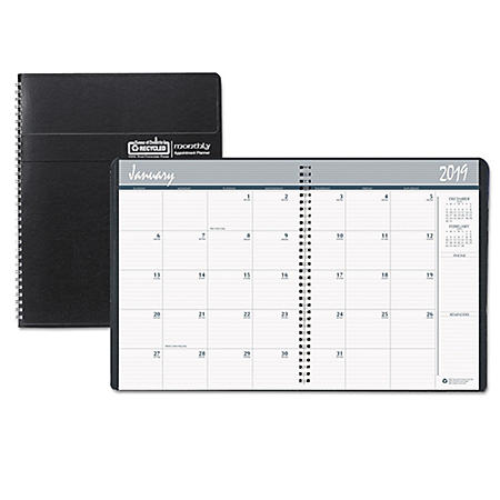 House of Doolittle Recycled Ruled Monthly Planner, 14-Month Dec.-Jan., 11 x 8 1/2, Black, 2019-2021