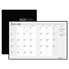 House of Doolittle Recycled 14-Month Ruled Planner with Stitched Leatherette Cover, 8 1/2 x 11, Black, December 2016 - January 2018