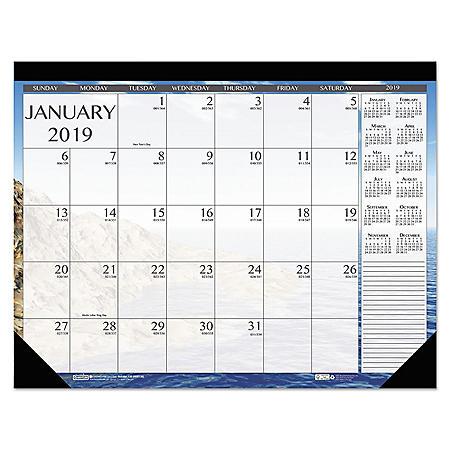 House of Doolittle Earthscapes Seascapes Desk Pad Calendar, 18 1/2 x 13, 2020
