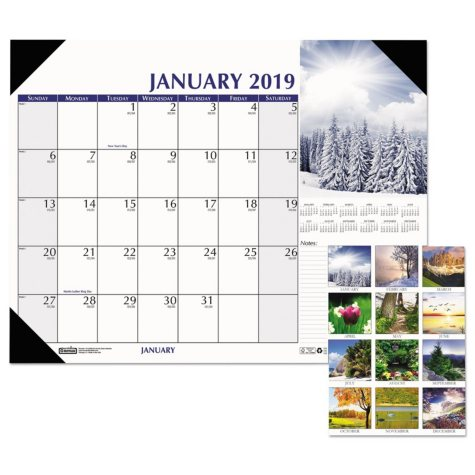 House of Doolittle™ Earthscapes Scenic Desk Pad Calendar, 18 1/2 x 13, 2019