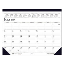 House of Doolittle™ Recycled Compact Academic Desk Pad Calendar, 18 1/2 x 13, 2017-2018