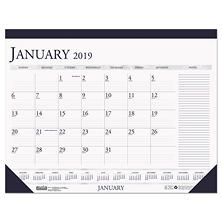 "House of Doolittle"" Recycled Two-Color Monthly Desk Calendar w/Large Notes Section, 18 1/2 x13, 2018"