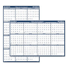 House of Doolittle Poster Style Reversible/Erasable Academic Yearly Calendar, 24 x 37, July 2016 - June 2017