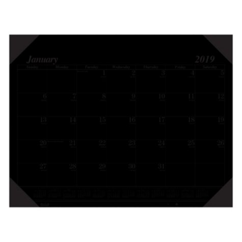 House of Doolittle™ Recycled Workstation-Size One-Color Monthly Desk Pad Calendar, 18 1/2 x 13, 2018