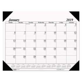 House of Doolittle™ Recycled One-Color Refillable Monthly Desk Pad Calendar, 22 x 17, 2018