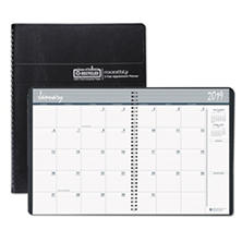 House of Doolittle™ Recycled 24-Month Ruled Monthly Planner, 8 1/2 x 11, Black, 2018-2019