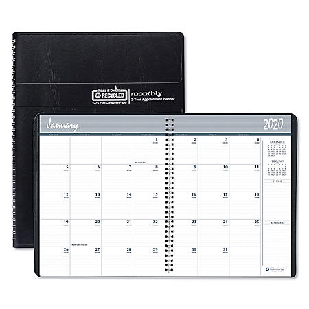 "House of Doolittle 100% Recycled Two Year Monthly Planner w/Expense Logs, 8 3/4"" x 6 7/8"", 2020-2021"