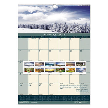 House of Doolittle Recycled Landscapes Monthly Wall Calendar, 12