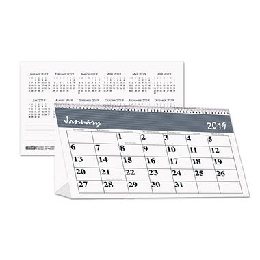 House of Doolittle™ Recycled Bar Harbor Desk Tent Monthly Calendar, 7 x 4 1/4, 2018