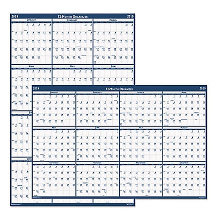 House of Doolittle™ Recycled Laminated Write-On/Wipe-Off Jumbo Yearly Wall Calendar, 66 x 33, 2019