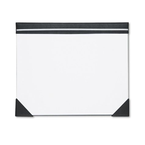 House of Doolittle Executive Doodle Desk Pad, 25 Sheet White Pad, Refillable, 22 x 17, Black/Silver