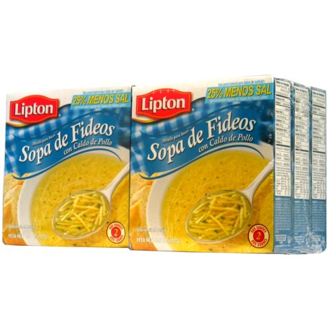 Lipton Soup Less Salt - 6 pk.