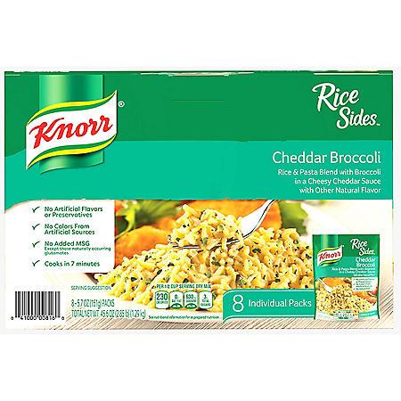 Knorr Rice Sides, Broccoli Cheddar (5.7 oz., 8 pk.)