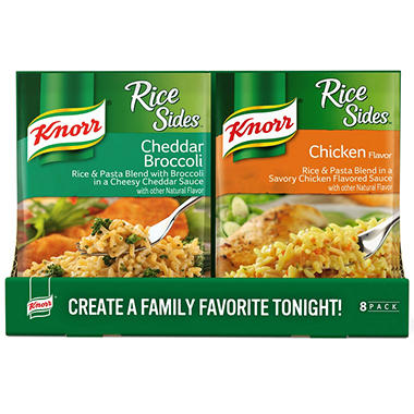 Knorr Rice Sides Chicken and Cheddar Broccoli Variety Pack (45 oz., 8 pk.)
