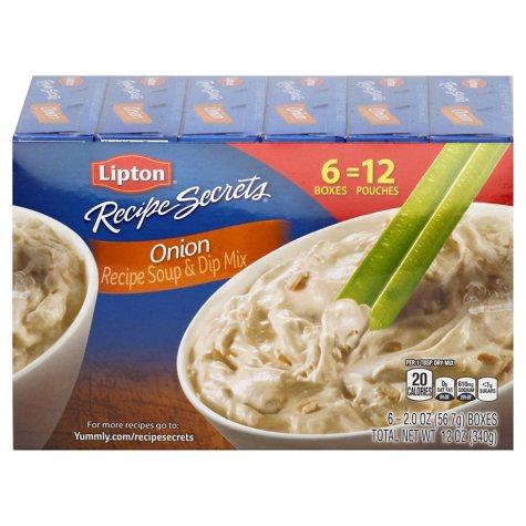 Lipton Onion Recipe Soup and Dip Mix (2 oz., 6 ct.)