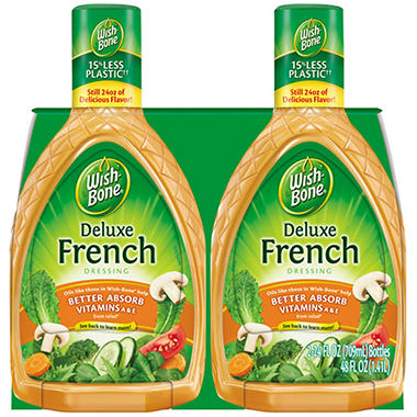 Wish-Bone Deluxe French Dressing - 24 oz. - 2 pk.