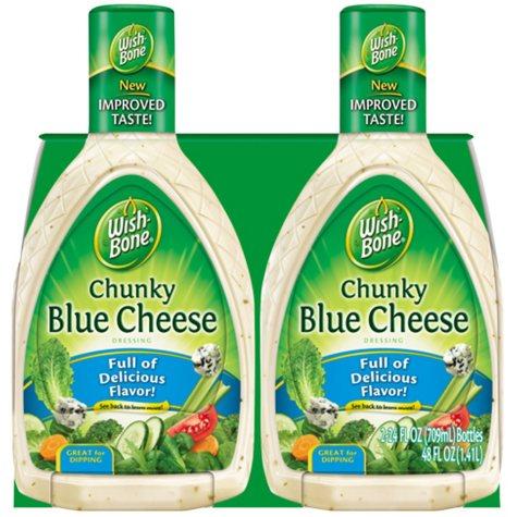 Wish-Bone Chunky Blue Cheese Dressing - 24 oz. - 2 pk.