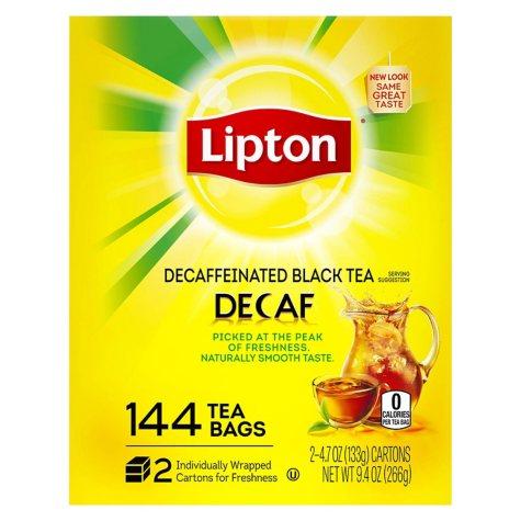 Lipton Decaffeinated Tea Bags (144 ct.)