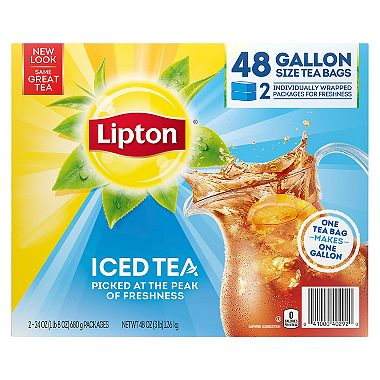 Lipton Iced Tea Gallon Size Bags 48 Ct Sam S Club