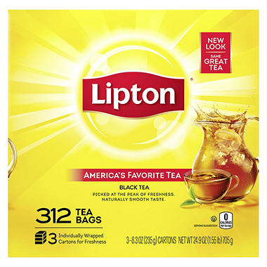 Lipton Tea Bags 312 Ct