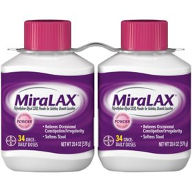 Miralax Twin Pack (2 bottles, 34 doses)