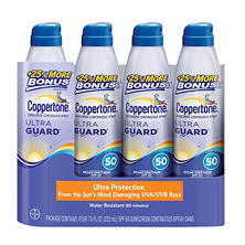 Coppertone Ultra Guard SPF 50 Continuous Spray Sunscreen (7.5 fl. oz., 4 pk.)