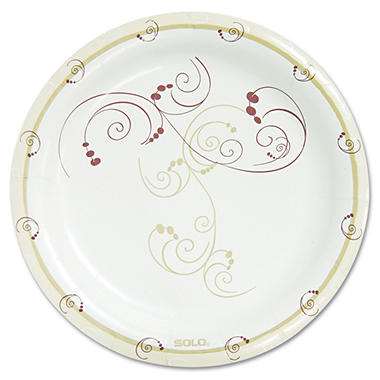 Solo Symphony Paper Dinnerware, Medium weight Plate, 8 1/2