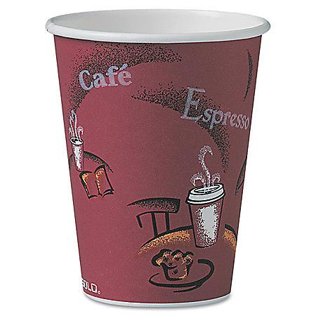 SOLO Cup Company Bistro Design Hot Drink Cups, Paper, 12oz, 300/Carton