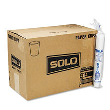 SOLO Cup Company White Paper Water Cups, 4 oz., 100/Bag -  50 Bags/Carton