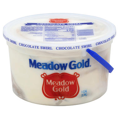 Meadow Gold Chocolate Swirl Ice Cream - 4 qt.
