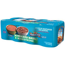 Progresso Tomato Basil & Minestrone Soup Variety Pack (19 oz. can, 8 ct.)