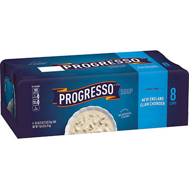 Progresso Traditional New England Clam Chowder (18.5 oz. cans, 8 pk.)
